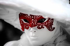 Editorial, 6 March 2016: Rosheim, France: Venetian Carnival Mask Stock Photography