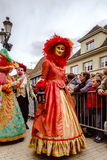 Editorial, 6 March 2016: Rosheim, France: Venetian Carnival Mask Royalty Free Stock Photos