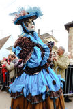 Editorial, 6 March 2016: Rosheim, France: Venetian Carnival Mask Royalty Free Stock Photography