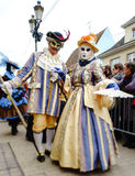 Editorial, 6 March 2016: Rosheim, France: Venetian Carnival Mask Royalty Free Stock Images