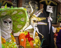 Editorial, 4 March 2017: Rosheim, France: Venetian Carnival Mask Stock Photography