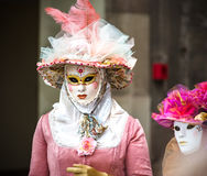 Editorial, 4 March 2017: Rosheim, France: Venetian Carnival Mask Royalty Free Stock Photography