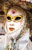 Editorial, 4 March 2017: Rosheim, France: Venetian Carnival Mask Stock Photo