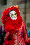 Editorial, 4 March 2017: Rosheim, France: Venetian Carnival Mask Stock Image