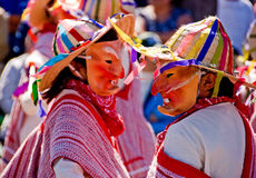 Editorial Mask dance at Charro Days Royalty Free Stock Photo