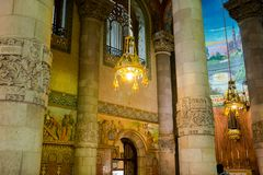 Editorial. May 2018. Interior details of The Temple of the Sacre Stock Photography