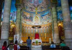 Editorial. May 2018. Interior of The Temple of the Sacred Heart Stock Photos