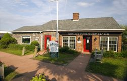 Editorial Montauk Chamber of Commerce Hamptons New York. MONTAUK, NEW YORK-JUNE 8:  The Information Center Chamber of Commerce building is seen on June 8, 2018 Stock Images