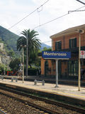 Editorial Monterosso train station Royalty Free Stock Photos