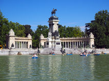Editorial  monument to King Alfonso XII in Retiro Park Madrid Spain Royalty Free Stock Image