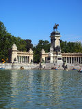 Editorial  monument to King Alfonso XII in Retiro Park Madrid Spain Stock Image