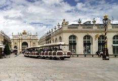 Editorial, o 31 de julho de 2016: Nancy, França: Centro turístico do Fotos de Stock Royalty Free