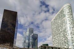 Editorial, o 14 de maio de 2016: Paris, França Skyscrappers da defesa vi Fotos de Stock Royalty Free