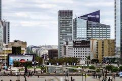 Editorial, o 14 de maio de 2016: Paris, França Skyscrappers da defesa vi Imagem de Stock