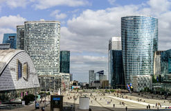 Editorial, o 14 de maio de 2016: Paris, França Skyscrappers da defesa vi Imagens de Stock