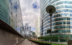 Editorial, o 14 de maio de 2016: Paris, França Skyscrappers da defesa vi Fotografia de Stock