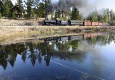 EDITORIAL, o 18 de outubro de 2015, trens do vapor e estrada de ferro da herança da estrada de ferro do vale do Sumpter ou estrad Imagem de Stock