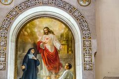 Free EDITORIAL, Painting In Santa Maria Liberatrice Church Stock Photo - 136557910