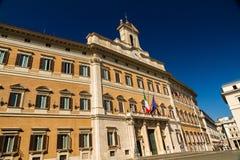 Editorial Palazzo Montecitorio in Piazza di Monte Citorio, Rome, Stock Photography
