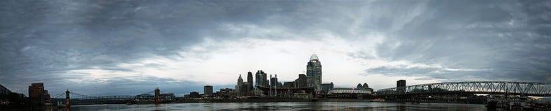 EDITORIAL Panorama of Cincinnati Ohio royalty free stock photography