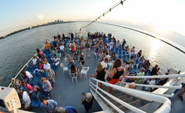 Editorial: Party Boat. People enjoying themselves on a cruise Royalty Free Stock Photography