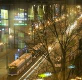 Editorial Pavia Street shopping mall night scene Krakow, Poland Stock Photography
