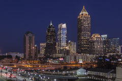 Atlanta Midtown Dusk Royalty Free Stock Photo