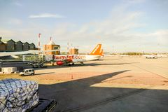 Editorial picture of the Marco Polo Airport in Venice on 9 January 2018 Stock Photography
