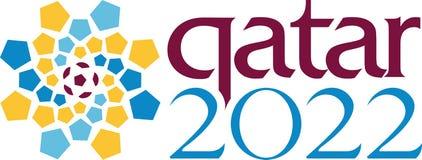 Editorial - Qatar logotipo de 2022 mundiales ilustración del vector