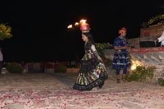 Editorial: Rajasthan, India: Dec 19th, 2015: Traditional Rajasthan dance  performance Stock Photography