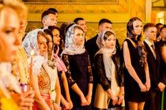 Editorial reportage Last bell Lutsk 11th grade high school 14 30.05.15 Royalty Free Stock Image