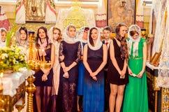 Editorial reportage Last bell Lutsk 11th grade high school 14 30.05.15 Stock Images