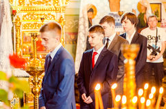Editorial reportage Last bell Lutsk 11th grade high school 14 30.05.15 Royalty Free Stock Photos