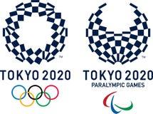 Editorial - representaciones visuales para Tokio 2020 olímpica y juegos de Paralympic stock de ilustración