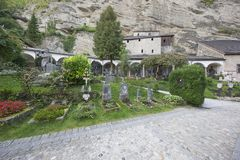View of St. Peter`s cemetery stock images