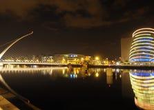 Editorial Samuel Beckett Bridge  River Liffy with Convention Cen Stock Photos