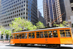 Editorial only San francisco Tram Cable car in Cal Stock Photos