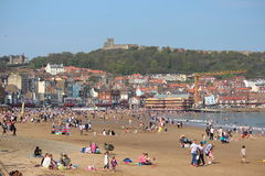 EDITORIAL: SCARBOROUGH BEACH, YORKSHIRE, ENGLAND: SUNDAY 8TH MAY 2016. Royalty Free Stock Photo