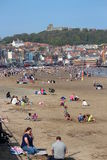 EDITORIAL: SCARBOROUGH BEACH, YORKSHIRE, ENGLAND: SUNDAY 8TH MAY:  Scarborough Holiday Season Begins With Clear Blue Skies and Hea Stock Images