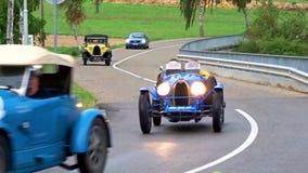 Editorial,12 September 2015: France: XXXIIeme Festival Bugatti stock video footage