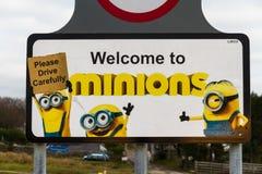 Editorial Sign post for Minions, Bodmin Moor Stock Photos