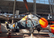 Editorial Sikorsky S-58 military antique helicopter Brussels Bel Royalty Free Stock Image