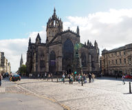 Editorial St. Giles Cathedral on The Royal Mile Edinburgh Scotla Royalty Free Stock Photo