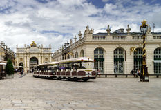 Editorial,31st July 2016: Nancy, France: Touristic center of the. City, street view Royalty Free Stock Photos