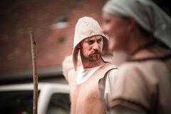 Editorial,14st June 2015: Chatenois, France: Fete des Remparts d. E Chatenois. Fancy-dress medieval holiday and festival in old castle stock images
