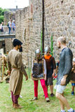 Editorial,14st June 2015: Chatenois, France: Fete des Remparts d. E Chatenois. Fancy-dress medieval holiday and festival in old castle Royalty Free Stock Photos