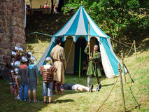 Editorial,14st June 2015: Chatenois, France: Fete des Remparts d. E Chatenois. Fancy-dress medieval holiday and festival in old castle Royalty Free Stock Image