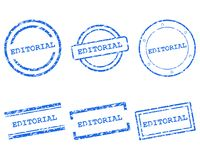 Editorial stamps. As vector illustration royalty free illustration