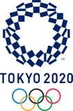 Editorial - 2020 Summer Olympics logo royalty free illustration