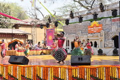 Editorial: Surajkund,Haryana, India: Feb 06th,2016:Local Artists from Karnataka performing dance in 30th International crafts fair Stock Photography